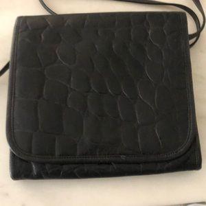 Carlos Falchi black cross body bag perfect!!